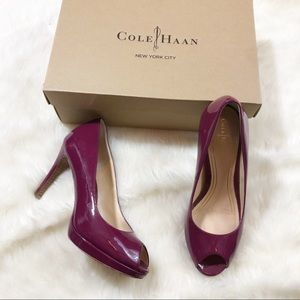 •Cole Haan Purple Winery Chelsea OT Pumps•